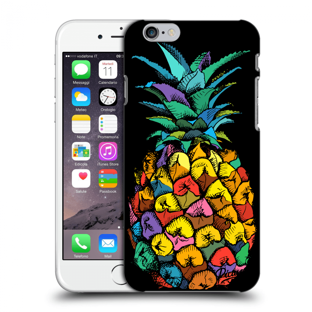 Picasee plastový černý obal pro Apple iPhone 6 6S - Pineapple  48d0d77aa4f