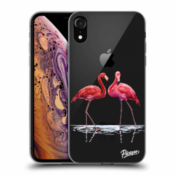 Obal pro Apple iPhone XR - Flamingos couple