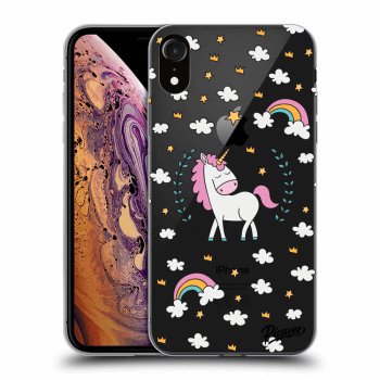 Obal pro Apple iPhone XR - Unicorn star heaven