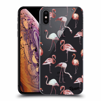 Obal pro Apple iPhone XS Max - Flamingos