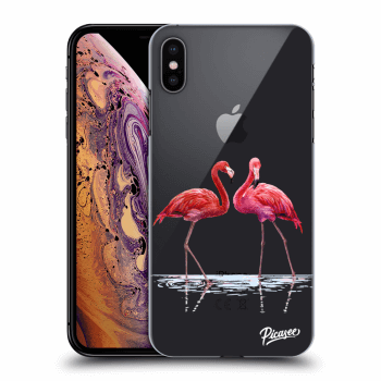 Obal pro Apple iPhone XS Max - Flamingos couple