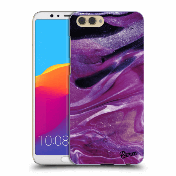 Obal pro Honor View 10 - Purple glitter