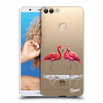Obal pro Huawei P Smart - Flamingos couple