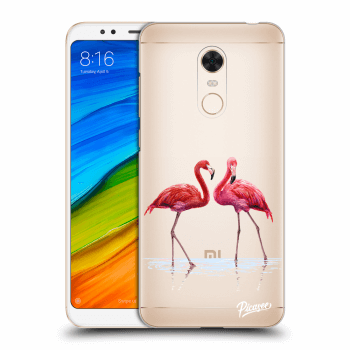 Obal pro Xiaomi Redmi 5 Plus Global - Flamingos couple