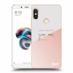 Picasee silikonový průhledný obal pro Xiaomi Redmi Note 5 Global - You create your own opportunities