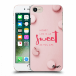 Picasee silikonový průhledný obal pro Apple iPhone 7 - Life is as sweet as you are