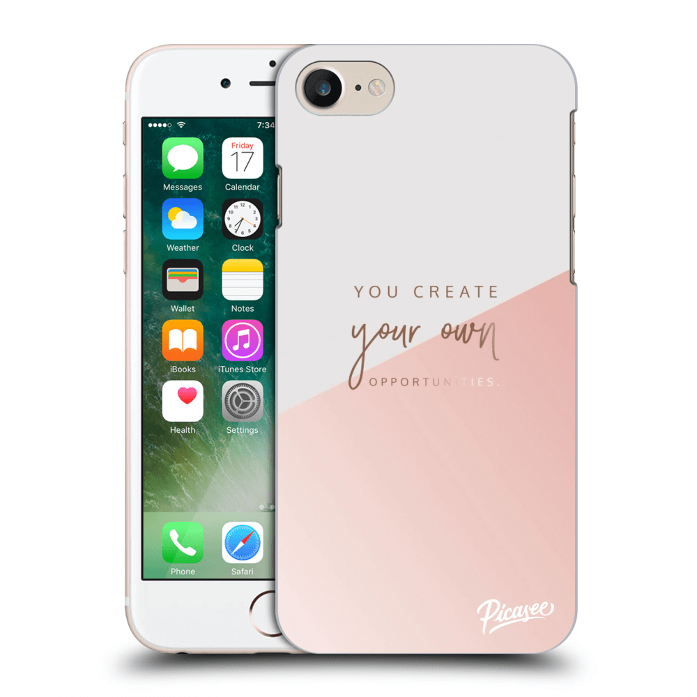 Picasee silikonový průhledný obal pro Apple iPhone 7 - You create your own opportunities