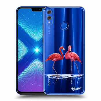 Obal pro Honor 8X - Flamingos couple