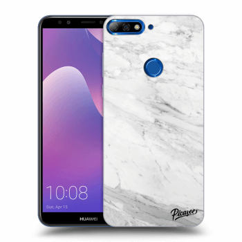 Obal pro Huawei Y7 Prime (2018) - White marble