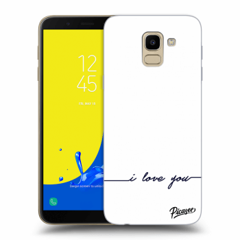 Obal pro Samsung Galaxy J6 J600F - I love you