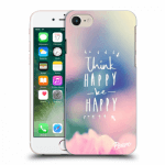 Picasee silikonový průhledný obal pro Apple iPhone 8 - Think happy be happy