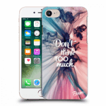 Picasee silikonový průhledný obal pro Apple iPhone 8 - Don't think TOO much