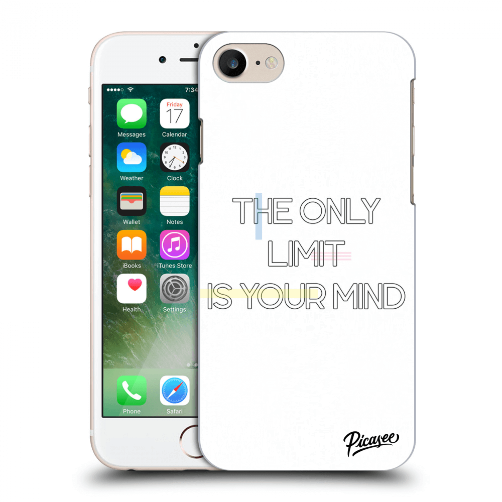 Picasee silikonový průhledný obal pro Apple iPhone 8 - The only limit is your mind