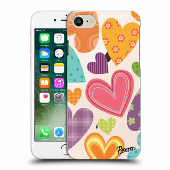 Obal pro Apple iPhone 8 - Colored heart