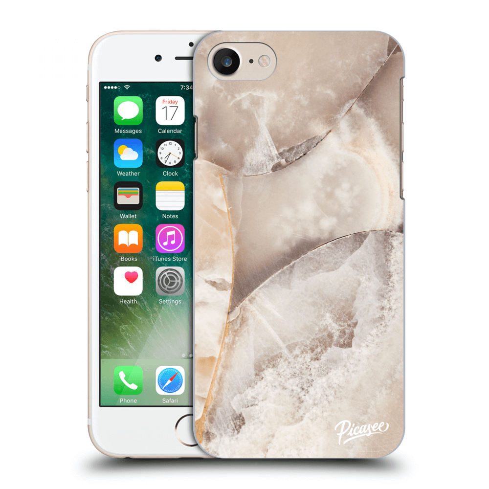 Picasee silikonový průhledný obal pro Apple iPhone 8 - Cream marble