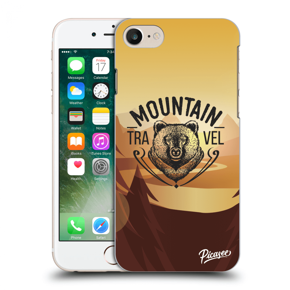 Picasee silikonový průhledný obal pro Apple iPhone 8 - Mountain bear ... 7e4650389e7