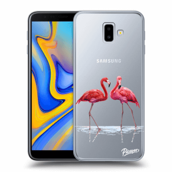 Obal pro Samsung Galaxy J6+ J610F - Flamingos couple
