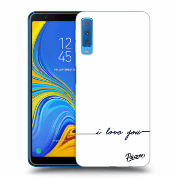 Obal pro Samsung Galaxy A7 2018 A750F - I love you