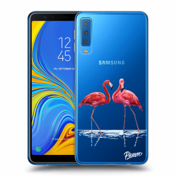 Obal pro Samsung Galaxy A7 2018 A750F - Flamingos couple
