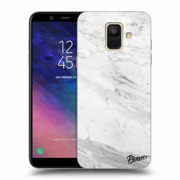 Obal pro Samsung Galaxy A6 A600F - White marble
