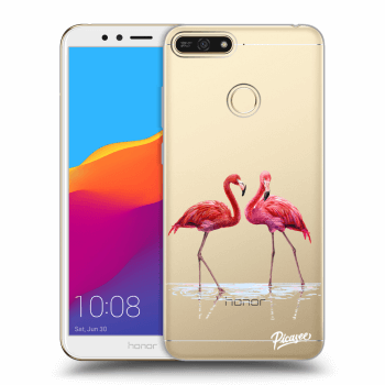 Obal pro Honor 7A - Flamingos couple