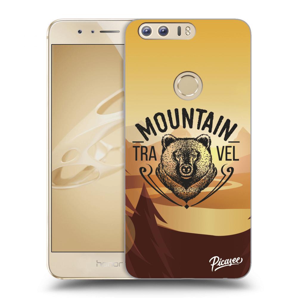 Picasee silikonový průhledný obal pro Honor 8 - Mountain bear  71279039534