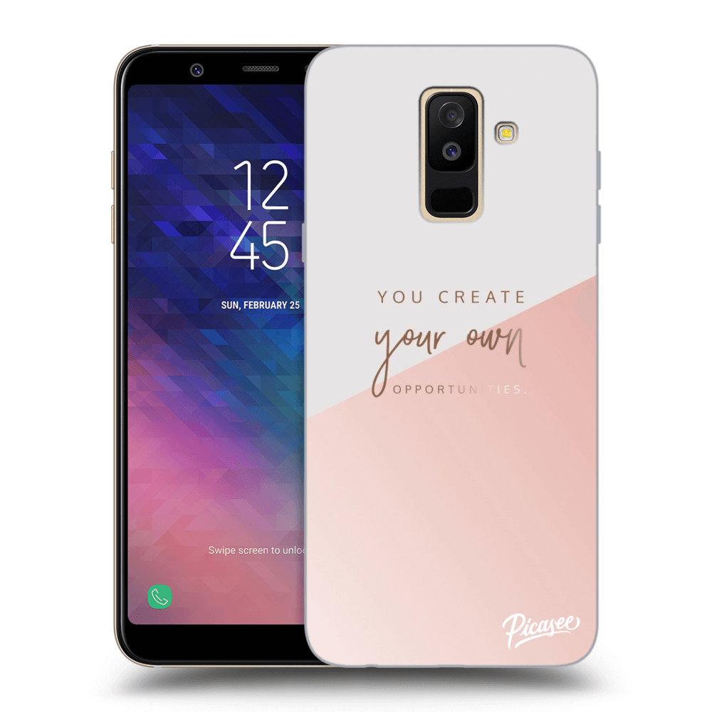 Picasee silikonový průhledný obal pro Samsung Galaxy A6+ A605F - You create your own opportunities