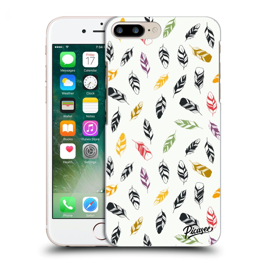 Picasee silikonový průhledný obal pro Apple iPhone 7 Plus - Feather ... 27f091c4955