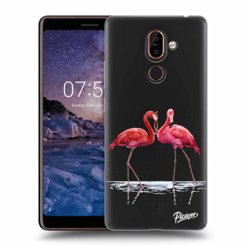 Obal pro Nokia 7 Plus - Flamingos couple
