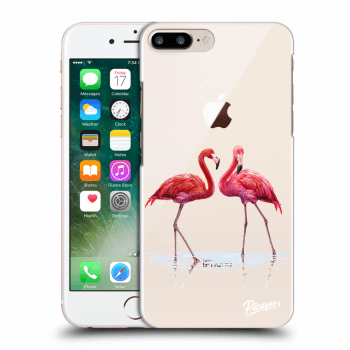 Obal pro Apple iPhone 8 Plus - Flamingos couple