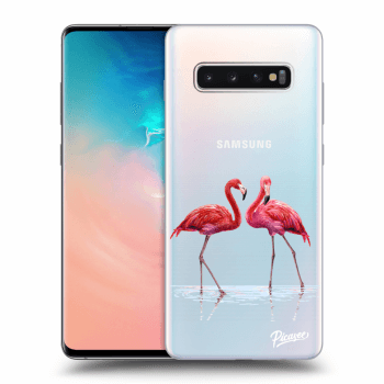 Obal pro Samsung Galaxy S10 Plus G975 - Flamingos couple