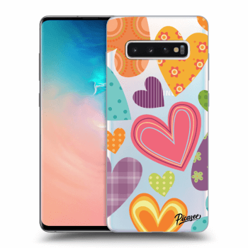 Obal pro Samsung Galaxy S10 Plus G975 - Colored heart