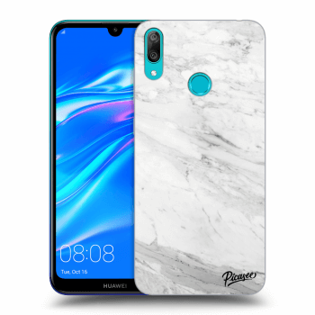Obal pro Huawei Y7 2019 - White marble