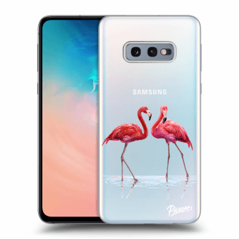 Obal pro Samsung Galaxy S10e G970 - Flamingos couple