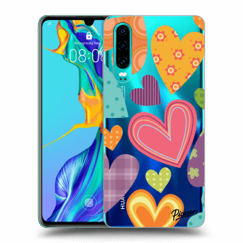Obal pro Huawei P30 - Colored heart