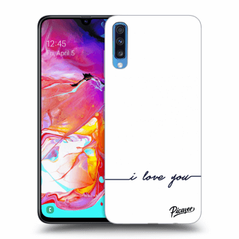 Obal pro Samsung Galaxy A70 A705F - I love you