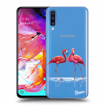 Obal pro Samsung Galaxy A70 A705F - Flamingos couple