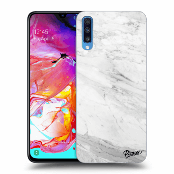 Obal pro Samsung Galaxy A70 A705F - White marble