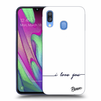 Obal pro Samsung Galaxy A40 A405F - I love you