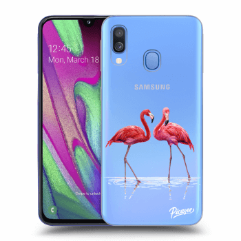 Obal pro Samsung Galaxy A40 A405F - Flamingos couple