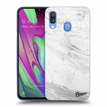 Obal pro Samsung Galaxy A40 A405F - White marble